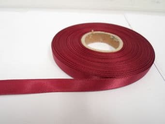 Burgundy Wine Claret Satin Ribbon Double sided 3mm 7mm 10mm 15mm 25mm 38mm 50mm Roll Bow